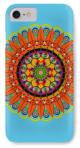 Mandala Sunflower IPhone Case by Isabel Salvador