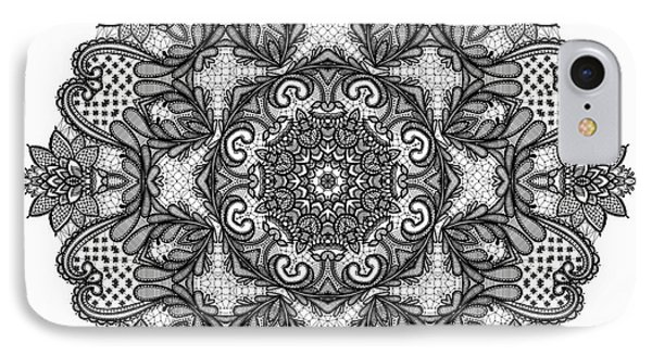 IPhone Case featuring the digital art Mandala To Color 2 by Mo T