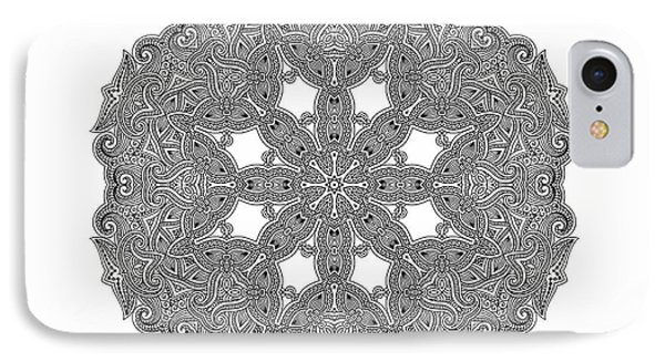 IPhone Case featuring the digital art Mandala To Color by Mo T