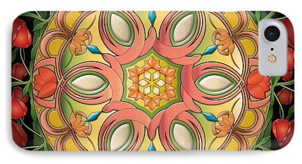 Mandala Tulipa Phone Case by Bedros Awak