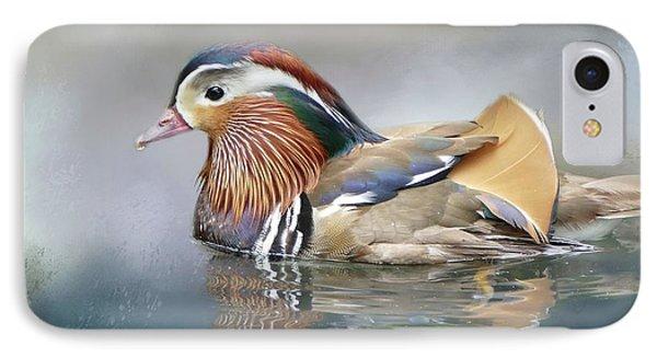 Mandarin Duck Swimming IPhone Case