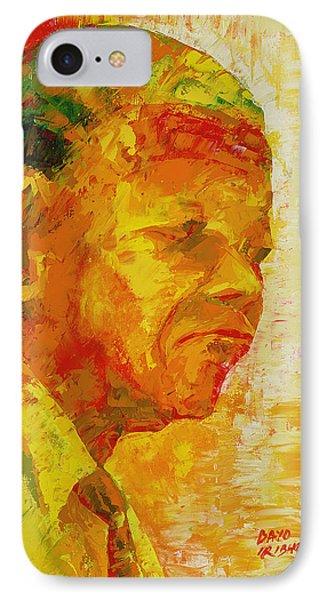 Mandela IPhone Case by Bayo Iribhogbe