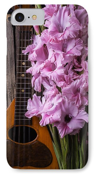 Mandolin And Glads IPhone Case by Garry Gay