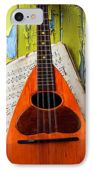 Mandolin And Old Sheet Music IPhone Case by Garry Gay