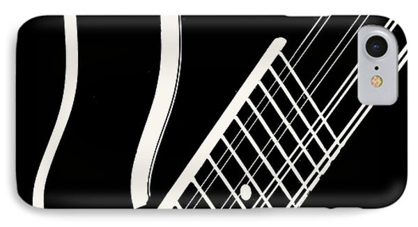IPhone Case featuring the digital art Mandolin Close Bw by Jana Russon