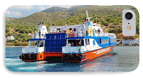 Mandraki Harbour In Nisyros IPhone Case by David Fowler