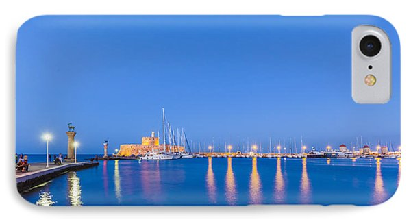 Mandraki Harbour Near Dawn IPhone Case by Werner Dieterich