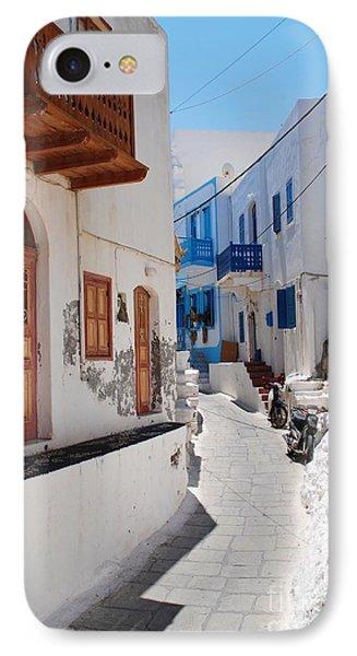 Mandraki Street On Nisyros IPhone Case by David Fowler