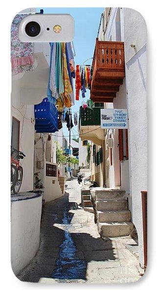 Mandraki Town On Nisyros IPhone Case by David Fowler