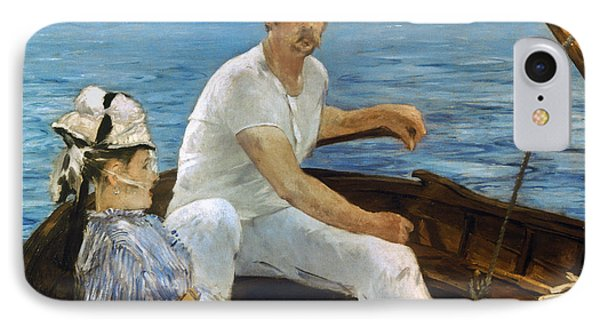 Manet: On A Boat, 1874 Phone Case by Granger