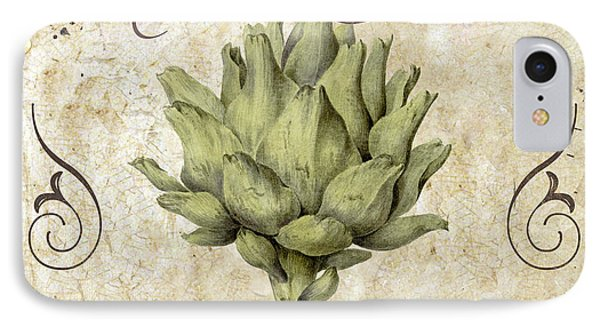 Mangia Carciofo Artichoke IPhone Case by Mindy Sommers
