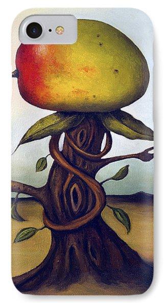 Mango Tree Aka Senor Mango IPhone Case by Leah Saulnier The Painting Maniac