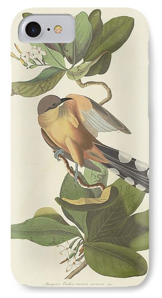 Cuckoo iPhone 7 Case - Mangrove Cuckoo by Dreyer Wildlife Print Collections