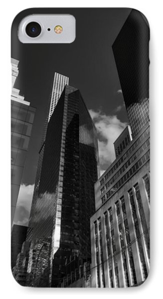 IPhone Case featuring the photograph Manhattan - 5th Ave. 001 Bw by Lance Vaughn