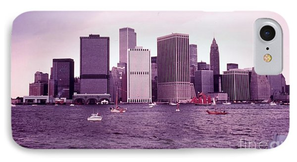 Manhattan Before 9-11 IPhone Case by Celestial Images