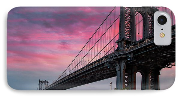 IPhone Case featuring the photograph Manhattan Bridge At Sunrise  by Emmanuel Panagiotakis