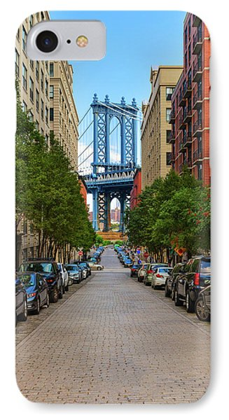 IPhone Case featuring the photograph Manhattan Bridge by Emmanuel Panagiotakis