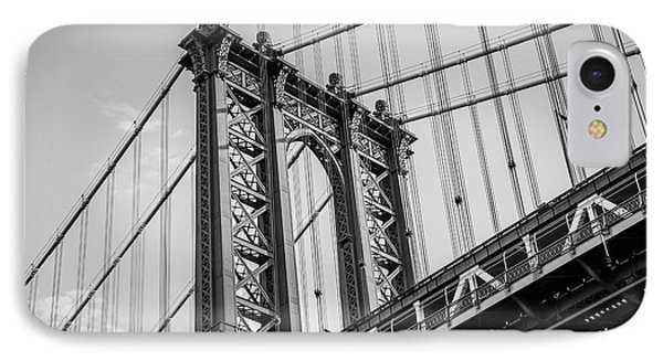 Manhattan Bridge IPhone Case by Frank Mari