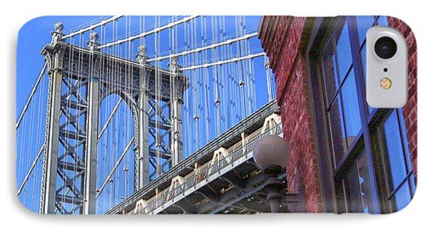 IPhone Case featuring the photograph Manhattan Bridge by Mitch Cat