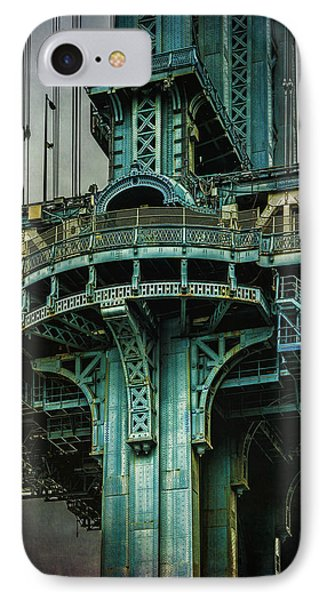 IPhone Case featuring the photograph Manhattan Bridge Tower by Chris Lord