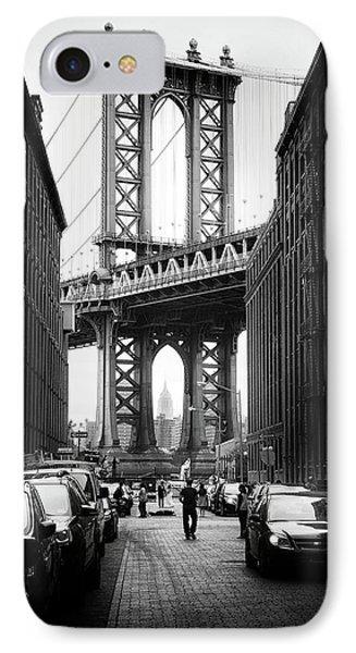 Manhattan Bridge View IPhone Case by Jessica Jenney
