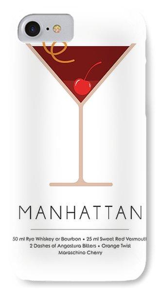 Manhattan Classic Cocktail - Minimalist Print IPhone Case