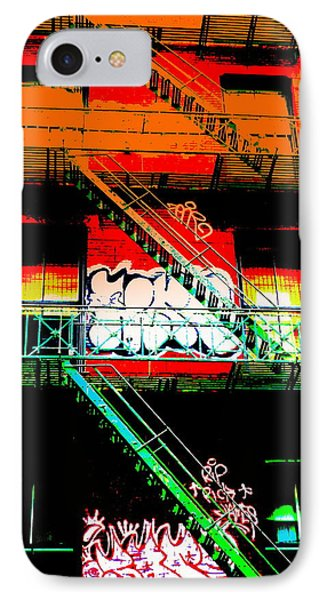 Manhattan Fire Escape IPhone Case by Funkpix Photo Hunter