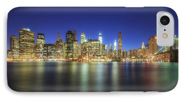 Manhattan Nite Lites Nyc IPhone Case by Yhun Suarez