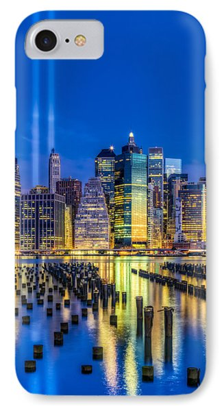 Manhattan Nyc 911 Tribute IPhone Case by Susan Candelario