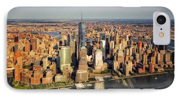 Manhattan Nyc Aerial View IPhone Case