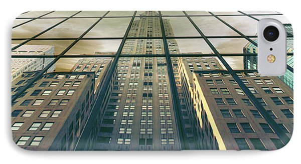 IPhone 7 Case featuring the photograph Manhattan Reflected by Jessica Jenney