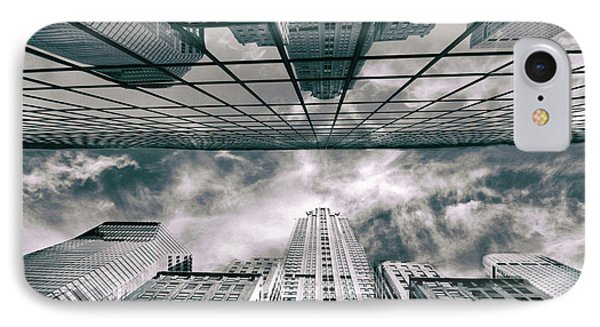IPhone 7 Case featuring the photograph Manhattan Reflections by Jessica Jenney