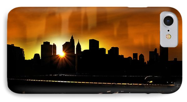 Manhattan Silhouette Phone Case by Svetlana Sewell