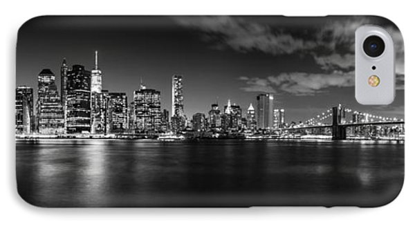 Manhattan Skyline At Night IPhone Case by Az Jackson