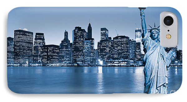 Manhattan Skyline IPhone Case by Luciano Mortula