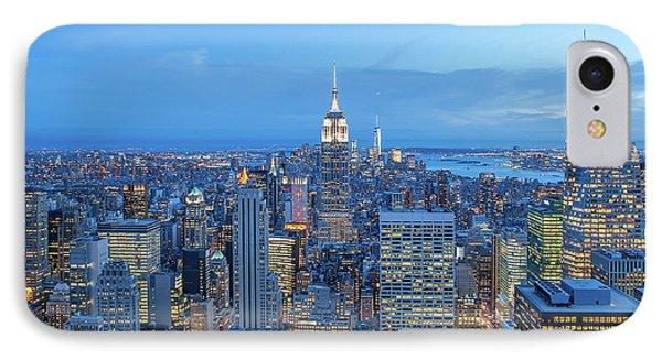 Manhattan Skyline New York City IPhone Case by Az Jackson