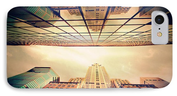 IPhone Case featuring the photograph Manhattan Skyline Reflections by Jessica Jenney