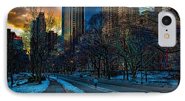 Manhattan Sunset Phone Case by Chris Lord