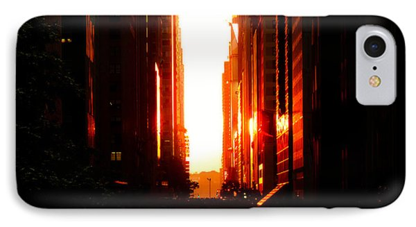 City Sunset iPhone 7 Case - Manhattanhenge Sunset Overlooking Times Square - Nyc by Vivienne Gucwa