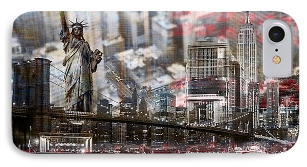 IPhone Case featuring the photograph Manhatten From Above by Hannes Cmarits