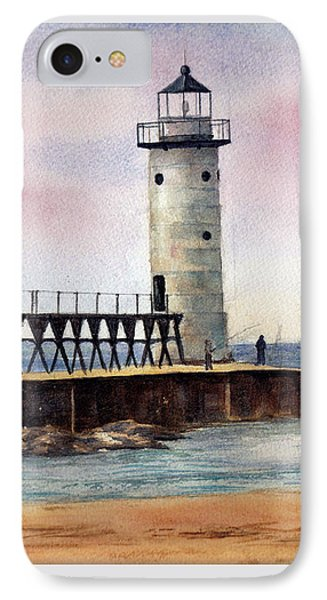 Manistee North Pierhead Light IPhone Case by Brenda Thour