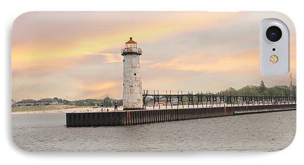 Manistee North Pierhead Lighthouse IPhone Case