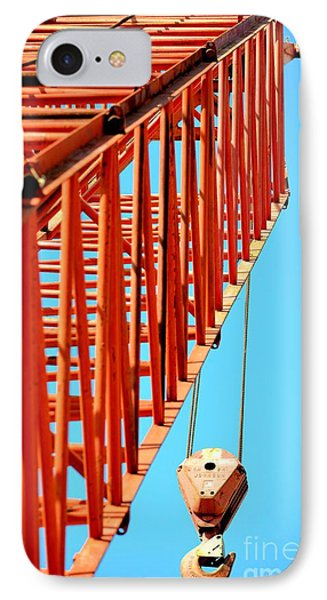 Manitowoc Red Boom Block And Hook IPhone Case by Maria Urso