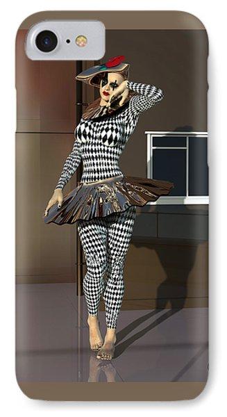 Mannequin Dressed Pierrette IPhone Case