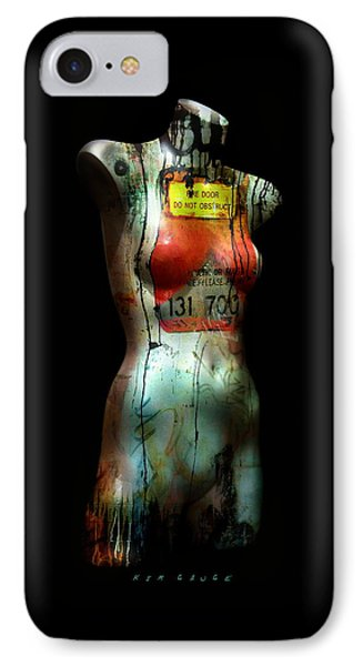 IPhone Case featuring the painting Mannequin Graffiti by Kim Gauge