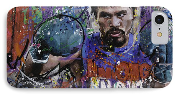 Manny Pacquiao IPhone Case by Richard Day