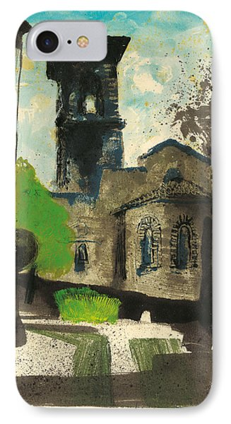 IPhone Case featuring the painting Manosque  Provence Notre Dame De Romigier Print by Martin Stankewitz