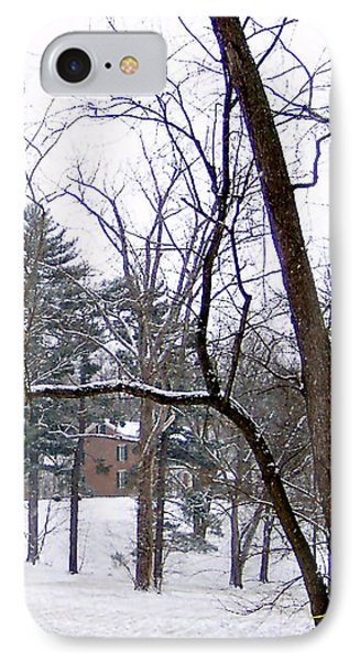 Mansion In The Snow IPhone Case by Skyler Tipton