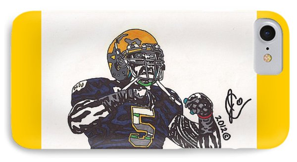 Manti Te'o 1 IPhone Case by Jeremiah Colley