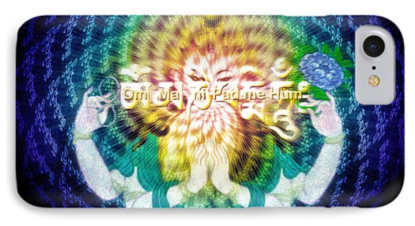 IPhone Case featuring the painting Mantra Of Compassion by Robby Donaghey